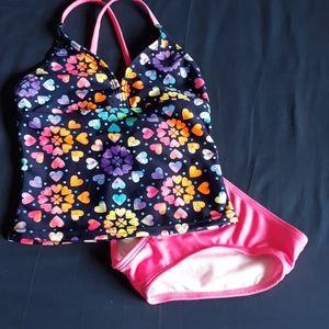 2-Piece Cat & Jack Floral/Pink Girls Bathing Suit